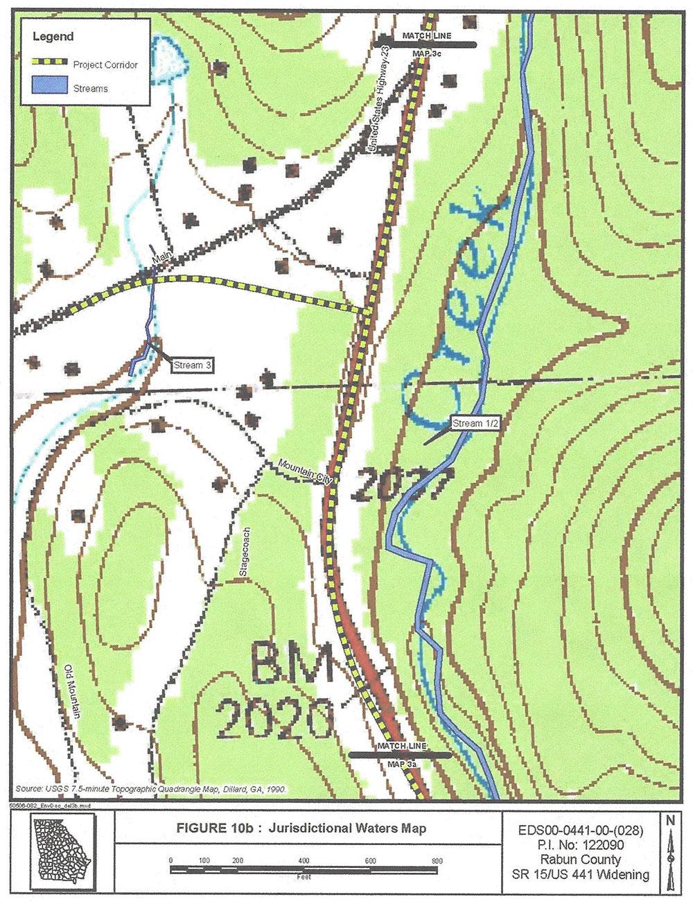 GA DOT Highway  Widening Chattooga Conservancy - Us 441 map